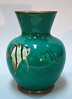 Ando Shippo Cloisonné Vase, Angel Fish