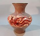 Huge Ando Shippo Cloisonne Vase, Phoenix