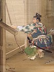 Important Meiji Exhibition Painting by Ito Koun