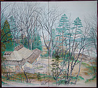Winter's End, Antique Japanese Screen, Takahashi Shiko