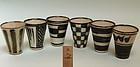 Set 6 Rare Japanese Whiskey Cups by Kiyomizu Rokubei