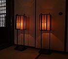 Pair Meiji P. Japanese Andon Paper Lamps