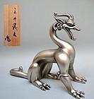 Art Deco Hakudo Bronze Dragon, Yoshio