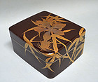 Antique Japanese Lacquer Box, Shimada Shunko