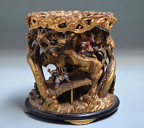 Museum Quality Antique Japanese Buddhist Bell Stand