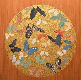 Antique Ita-do Painted Wooden Door Set, Maruyama Oyo