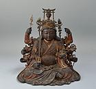 Additional Photo Superb Edo p BenzaiTen Buddhist Statue