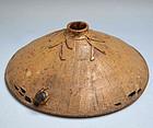 Rare Pottery Vase, Snail by Miyagawa (Makuzu) Kozan