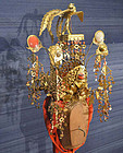Antique Japanese Noh Drama Crown, Kanmuri, Very Rare!