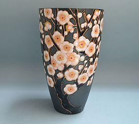 Ando Shippo Cloisonne Vase, Plum Blossoms