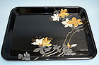 Antique Japanese Maki-e & Inlayed Lacquer Tray
