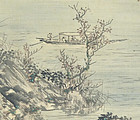 Moon Viewing at the Red Cliff Scroll by Okutani Shuseki