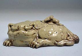19th c. Japanese Banko Yaki Koro, Shishi