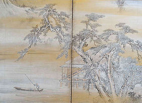 Important Antique Japanese Screen Set, Mori Kansai R