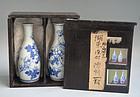 Rare Koto-yaki Sometsuke Porcelain Tokkuri Set