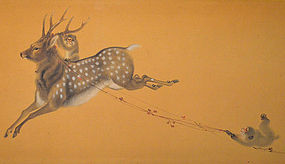 Monkeys and Deer by Yoshimura Horyu