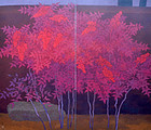 Nanten by Ono Tosaburo, 1956 Exhibited Japanese Screen