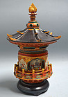 Antique Buddhist Tower Koro by Miyagawa (Makuzu) Kozan