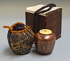 Early Edo p. Seto Chaire Tea Caddy, Japanese Tea Ceremony