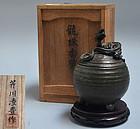Bronze Dragon Koro Incense Burner by Serikawa Ryoho