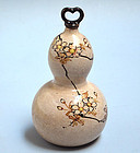 Antique Japanese Ko-Kiyomizu Yaki Gourd Shaped Vessel