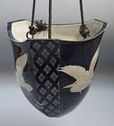 Hanging Porcelain vase by Nakamura Suiko, 1949 Nitten
