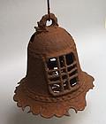 Antique Japanese Iron Hanging Lantern