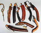 8 Antique Japanese Kayaku-ire Powder Horns