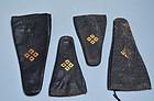 Antique Edo p. Japanese Sword Handle Covers w/ Crest