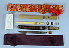 Aikuchi Tanto Japanese Sword with Full Furniture