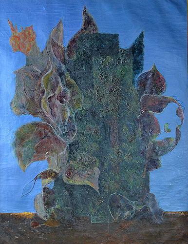 Important Painting, Nakamura Yoshitane, Canna and Cypress, 1938