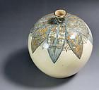 Antique Japanese Ito Tozan Art Deco Design Vase