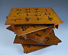 Buddhist Priest Matsuzaka Kian HP Calligraphy Tray Set
