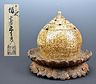 17th century Hagi Kiku Shaped Koro by Koraizaemon II