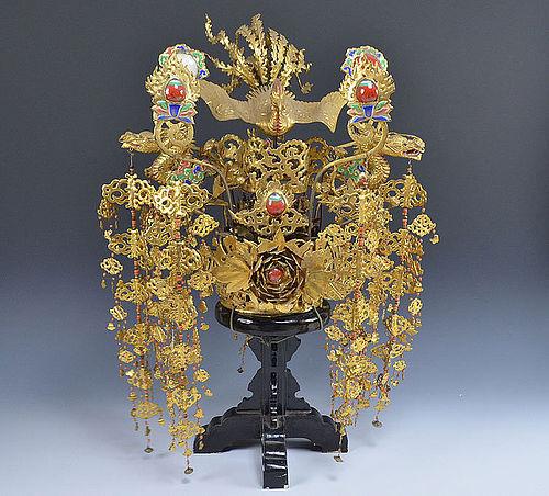 Incredible Antique Japanese Noh Drama Crown, Kanmuri, Very Rare!