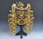 Incredible Antique Japanese Noh Drama Crown, Kanmuri, Very Rare!