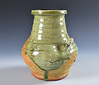 Antique Pottery Vase by Miyagawa (Makuzu) Kozan