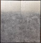 Imai Toshimitsu Abstract Silver Japanese 2 panel Screen