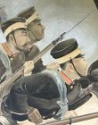 Rare Meiji p.Sino Japanese War Screen, Battle for Pyongyang