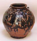 Fantastic Edo p. Japanese Naeshirogawa Pottery Tsubo