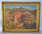 Teiten Exhibited Oil Painting by Kaneko Tamotsu, 1920