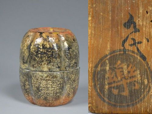 9th Generation Raku Ryonyu Kogo Incense Case