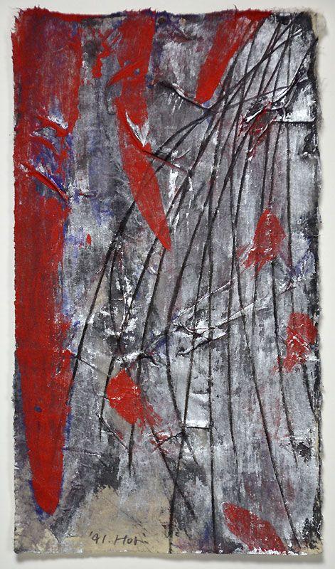 Abstract Japanese Painting �Mudai� by Hori Kosai, 1991