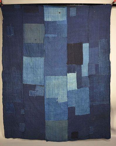 Antique Japanese Boro Textile gohaba