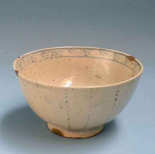 Antique c, 15th c. Vietnamese Ceramic Chawan Tea Bowl