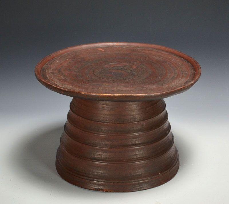 Rare and Unusual Antique Round Korean Soban Tea Table