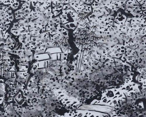 Fukuda Kodojin Sumi-e Ink Landscape