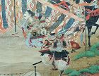 Rare Japanese Mid-Edo p. Samurai Battle Painting