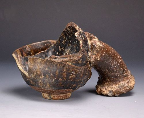 Momoyama p. Chossen Karatsu Chawan Pottery Kiln Flaw