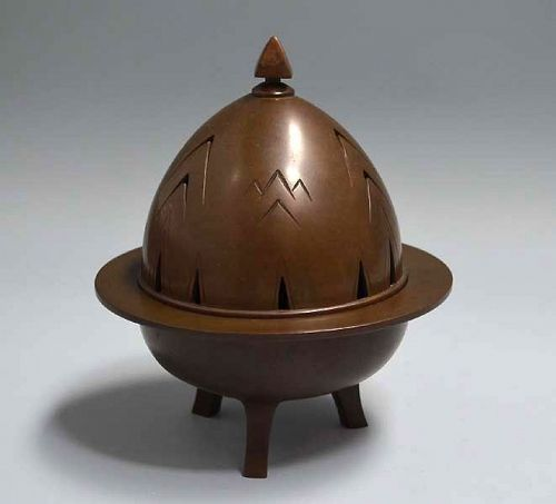 Art Deco Bronze Koro Incense Burner, Hori Joshin